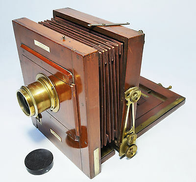 Victorian ½ plate folding tailboard camera, the 'International' J Lancaster &Son