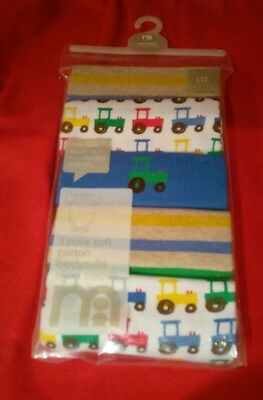 5 Pack of Mothercare Cotton Short Sleeved Babysuits - Boys - New Baby - BNIP