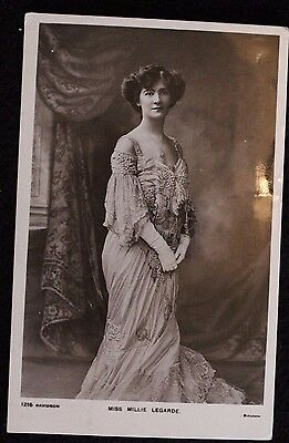 "Nice Vintage Actress Postcard ""Miss Millie Legarde"" 1905 With Duplex Postmark"