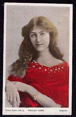 Nice Vintage Actress Postcard Phyllis Dare 1906 With Nice Postmarks