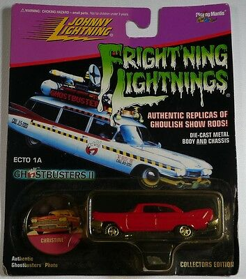 Johnny Lightning Frightning Lightnings Ghostbusters Ii Ecto 1A - Christine Red