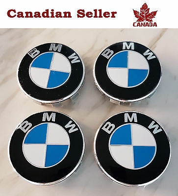 "Set of 4 BMW Wheel Center Caps - 68 mm (2.75"") - Fits All Models"