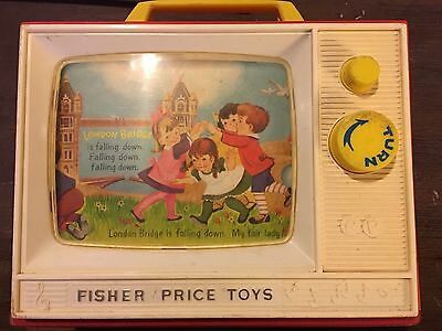 Vintage Fisher Price Toy Radio TV Music Box 1960's In Good Condition