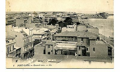 """EGYPT ""     PORT SAID  GENERAL   VIEW      LL Card  1930/40s"