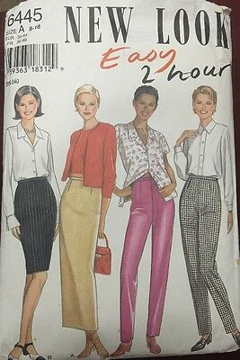 New look Sewing Pattern Ladies Woman's Skirt And Pants 6445 Size 8-18