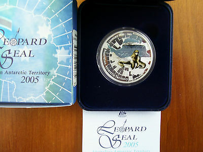 """2005 $1 Silver Proof Coin: AAT Series - """"Leopard Seal."""""""
