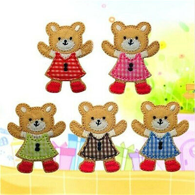 Bears Embroidery Cloth Iron On Patch Sewing Motif Applique 1 Set 5PCs♫