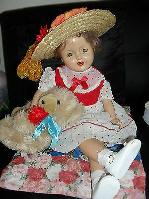"antique very large  composition child doll/"" faults""/ free postage"