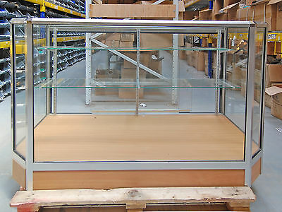 Glass Shop Cabinet - Clear display stand shop store fittings * Collection Only *