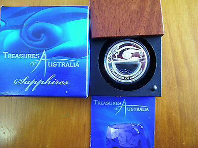 """2007 $1 Silver Proof Coin: Treasures of Australia - """"Sapphires."""""""