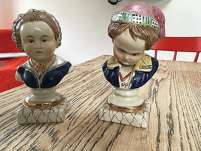 Germanic Victorian Porcelain Figurines of Children (Pair)