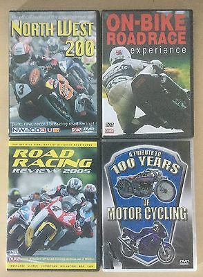 COLLECTION OF 4 MOTORBIKE RACING DVDs