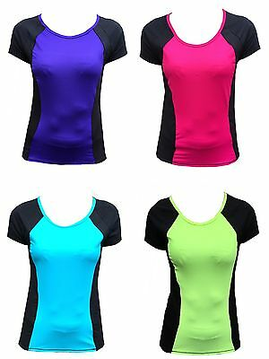 Ex-M /& S Active Cool Comfort StayNew Pink//Black Gym//Fitness T-Shirt//Top BNWOT