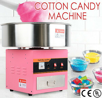 1050W Electric Commercial Cotton Candy Machine Fairy Floss Maker Carnival Pink