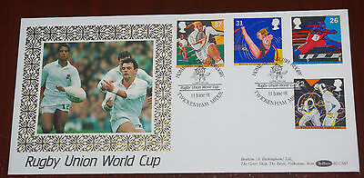 1991 Rugby Union World Cup Benham Silk First Day Cover H/s Twickenham BLCS65