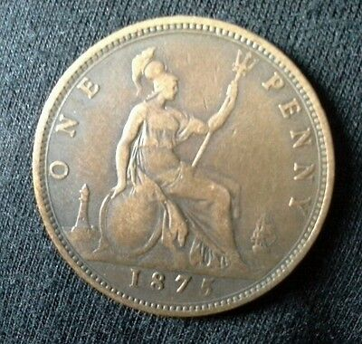 One Penny 1875 Victoria