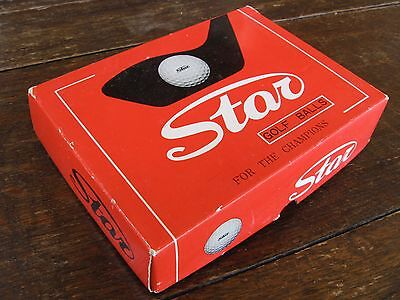 Vintage Golf Balls - Box of 12 unused 'Star' brand from the USA all in exc cond.