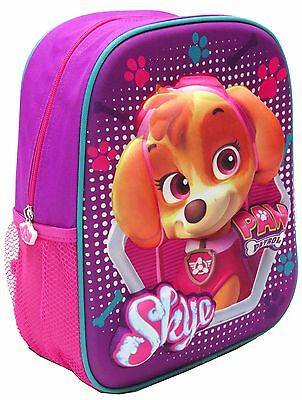 New 3D Small Backpack Paw Patrol Skye School Bag Kids Daycare Children Pink Girl