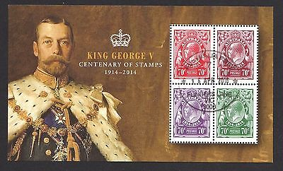 Australia 2014 100Th Anniversary Of King Geroge V Stamps Souvenir Sheet Used