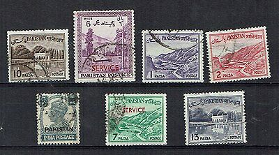 Pakistan Stamps ,  mixed older lot, two service overprints