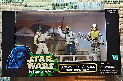 Star Wars Jabba's Skiff Guards Pack Power of the Force 1998