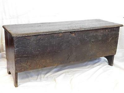 A Lovely Rustic Antique Country Oak Coffer Chest - Ideal Coffee Table!