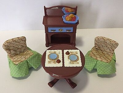 Fisher Price Loving Family Dollhouse Deluxe Dining Room Furniture