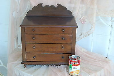 Antique Four Drawer Salesman Sample Dresser Chest Late 1800s Signed?