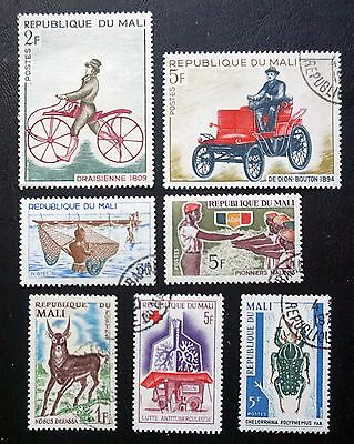 MALI Africa  NICE LOT of 7 different OLD COMMEMORATIVE STAMPS used  Lot #2