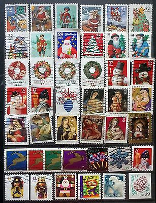 USA United States GREAT LOT of 43 different OLD CHRISTMAS stamps Used  Lot# C2