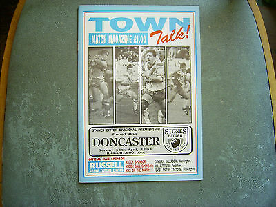 WORKINGTON v DONCASTER RL Div 3 Premiership 1992-93