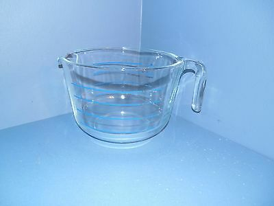 Vintage Pyrex 8 cup Glass Measuring Cup M-640-Blue Markings
