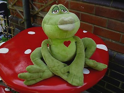 """Walt Disney Princess And The Frog Kissing  Naveen 12"""" Soft Toy"""