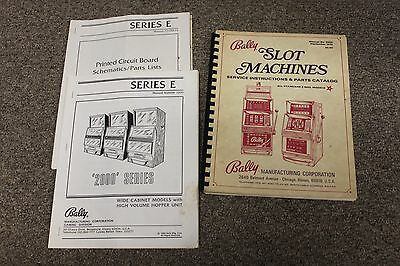 Bally SLOT MACHINES Service Instruction & Parts Manual / Catalog 1973, 3 Reel