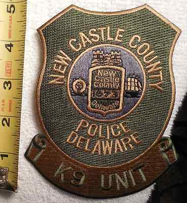 New Castle County Delaware K9 Unit Police Patch (Highway Patrol, Sheriff, State)
