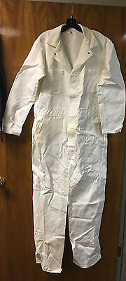 Coverall. Adolphe Lafont. 100% Cotton. Made In Usa. White With Snap Front. L/xl