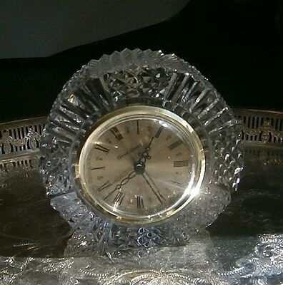 Tyrone Crystal Mantel Clock vcg signed and sticker