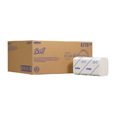 Scott White Hand Towels Folded Small 15 Sleeves of 320 Sheets 6775 (Pack of 15)