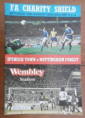 Ipswich Town V Nottingham Forest (Charity Shield) Football Programme 12-8-1978