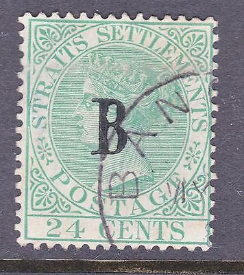 Thailand British Post Offices in Siam 24 Cents Green VF Used Superb A+A+A+  Rare