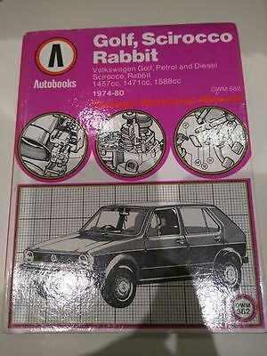 Autobook VW Golf workshop manual Mk1 1978 a 1984