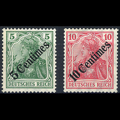 GERMAN PO's in TURKEY 1908 5c & 10c Ovpts. SG 60-61. Lightly Hinged Mint (AR320)