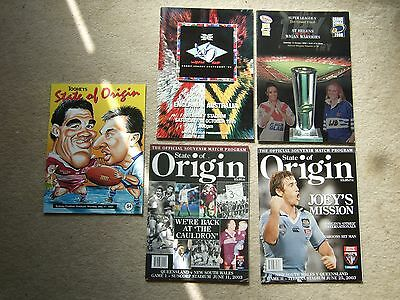 programme australia state of origin match in sydney 17/5/93 nsw v queensland