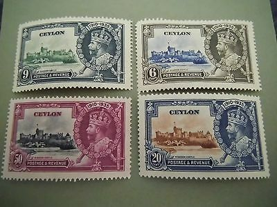 1935 KGV Silver Jubilee stamps CEYLON  MOUNTED MINT SET Catalogued £11.00 Lot 1
