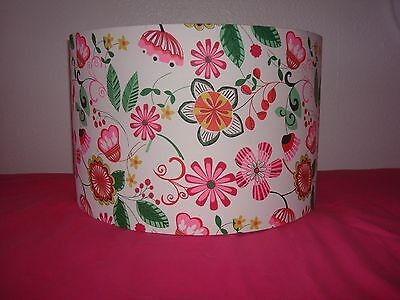 """BRIGHT FLORAL LIGHTSHADE  LAMPSHADE W16"""" x H10"""""""