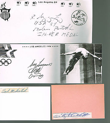 Autographes  Americains - Jeux Olympiques -Lovelette-Lovested-Losey-Louganis-