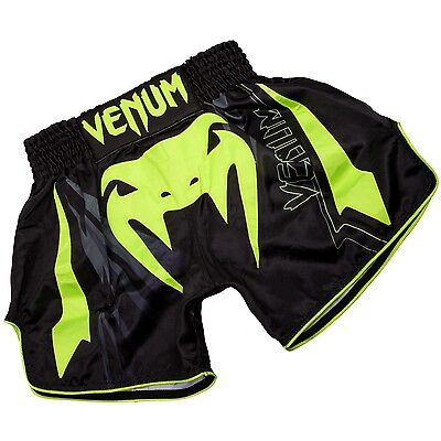 Venum Sharp 3.0 Muay Thai Shorts Mens Adults Kickboxing Black / Yellow