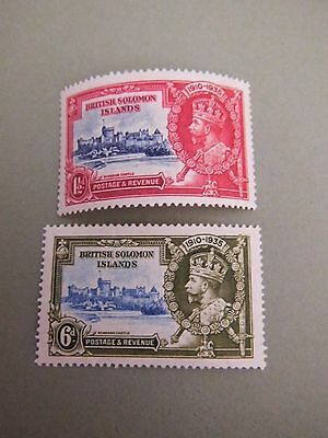 1935 KGV Silver Jubilee stamps British Solomon Islands  MNH MINT LOT CV £17.00