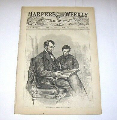Original May 6 1865 Harper's Weekly Funeral Of President Lincoln Complete Issue