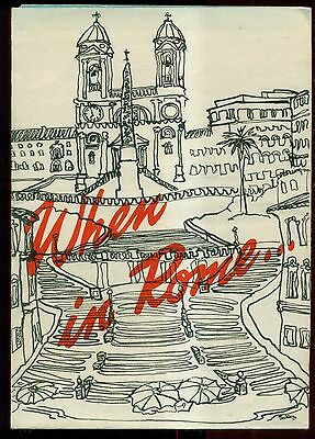 """1950's Rome's Largest Department Store """"Prima's"""" Advertising/Map"""
